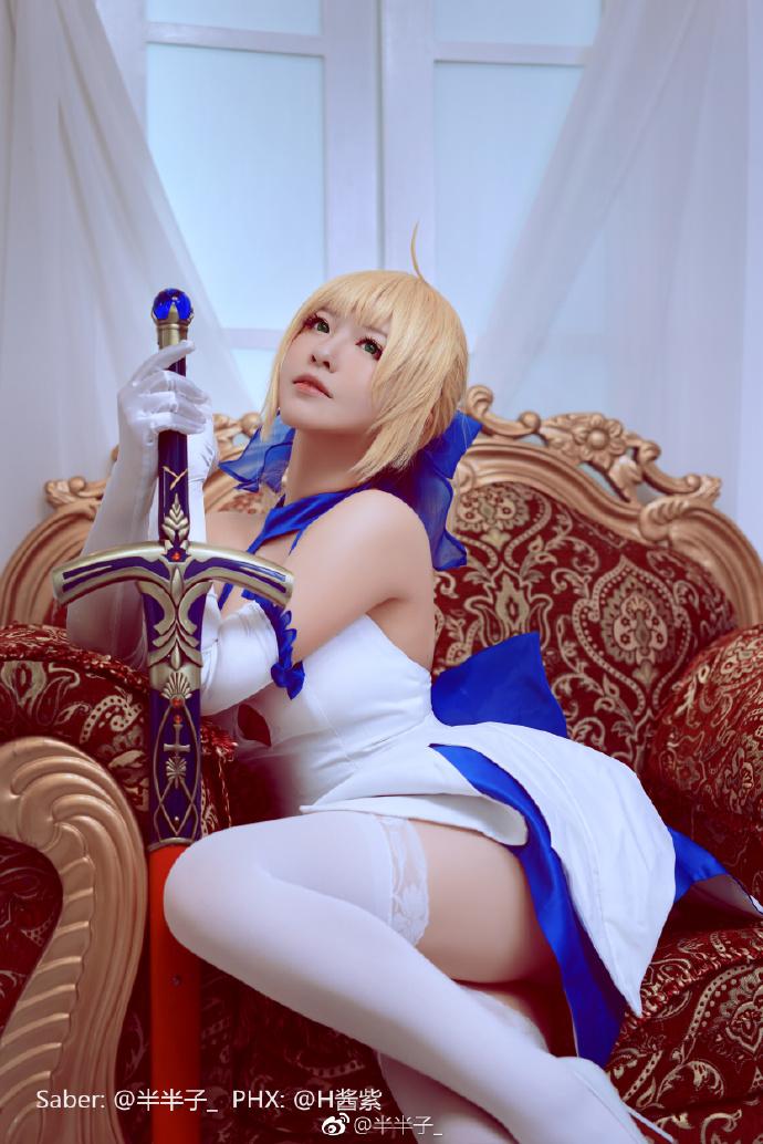 【cos正片】十周年纪念Ver《Fate》Saber蓝百合cosplay欣赏 cosplay-第3张
