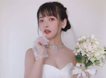 宝石鲜花 上坂堇的婚纱装